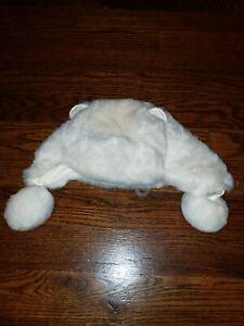 Baby Gap winter off white fur hat girls 12-18 months