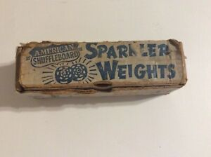 BOX OF 8 Vintage American Shuffleboard SPARKLER WEIGHS