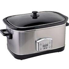 Edelstahl Slow Cooker 7,5 Liter mit Warmhaltefunktion und Timmer