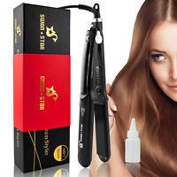 Infrared Hair Straightener Salon Steam Flat Iron Straightening + Argan Oil Clip