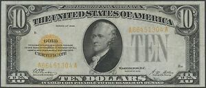 FR2400 $10 GOLD NOTE -- XF -- 1928 SERIES WOODS / MELLON BS1440