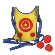 KIDS CHILDREN TARGET TOSS & CATCH HOOK LOOP BALL FUN INDOOR OUTDOOR SPORT GAME