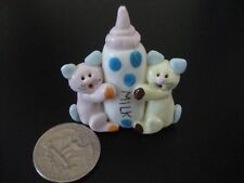 Collectibles Kitties Handmade Miniatures Animals Figurines Cats and Baby Bottle