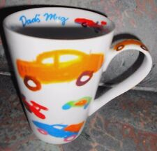 Germany DAD'S MUG Latte Mug Cup Children Art Cars Painting Teacher Father's Gift