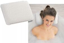 Luxury White Foam Bath Pillow Spongy Cushion Spa Tub Head Neck Rest Relaxing Aid