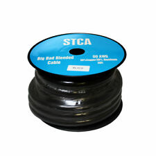 Showtime STCA-00-Black30 30′ Feet 2/0 00 AWG Gauge Black Power/Ground Cable/Wire