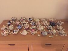 Collection - Job Lot of 29 Porcelain Art  Miniature Teapots  -  Special Editions