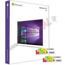 WINDOWS 10 PROFESSIONAL DVD + COA ADESIVO WIN PRO 32 64 BIT MICROSOFT ORIGINALE