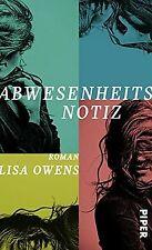 Abwesenheitsnotiz: Roman von Owens, Lisa | Buch | Zustand sehr gut