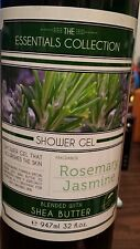 The Essentials Collection Shower Gel Rosemary Jasmine with Shea Butter 32 fl oz