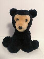 """Vintage 1976 Dakin Stuffed Plush Black Bear 8"""" Tall"""