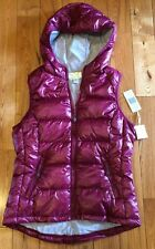 NWT Womens Ruby Red TANGERINE Quilted Puffer Hooded Vest Size Small S