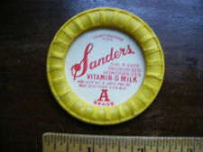 SANDERS DAIRY CHATTANOOGA TN MILK CAP SALESMAN'S SAMPLE LOT T-11