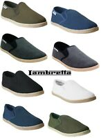 MENS LAMBRETTA ESPADRILLES SLIP ON  SUMMER PLIMSOLLS CANVAS PUMPS TRAINERS SIZE