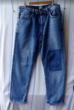 Mens River Island Jeans Blue Slim Fit Button Fly 32W 27L