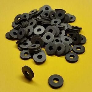 100 Stk Gummischeiben M6x16x3mm Gummi Unterlegscheiben schwarz Dichtscheiben