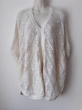 Next Women`s Ladies Knit Poncho Cape Beige Size Small