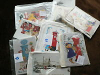 Rosalind Wicks Postcards, Christmas, Toys, Pillar Boxes, Sold in Sets, Unposted