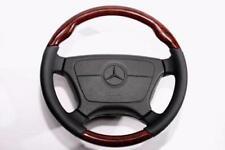For Mercedes Benz R129 SL Steering Wheel Walnut Black Leather Normal 1992-1995
