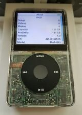 Apple iPod Classic Custom Clear- Thick Back (120GB) Refurbished! Brand New HDD!