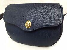 Authentic Christian Dior shoulder bag navy leather Vintage 5I284010