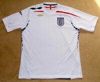 England National Soccer Football Team 07/09 Umbro Jersey Shirt Size L