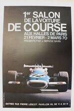AFFICHE ANCIENNE 1er SALON VOITURE COURSE 1970 HALLES PARIS SERVOZ GAVIN MATRA