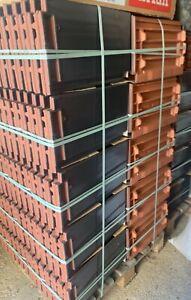 Creaton Domino Flächenziegel/Dachziegel schiefergrau-glasiert