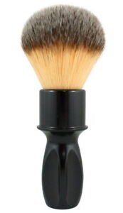 400 Glossy Black Plissoft RAZOROCK 24mm Shaving Brush Aluminium Synthetic Hair