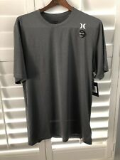 Hurley Gray Xl Upf 50+ Protection Tshirt Mens Nwt New Polyester & Spandex