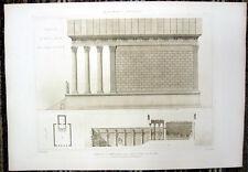 98 ~ ROME TEMPLE OF ANTONINUS FAUSTINA ~ Classical Corinthian Architecture Print
