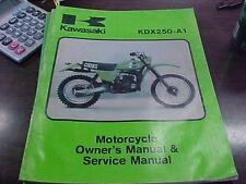 Kawasaki KDX 250 A-1 Owner's Manual & Service Manual