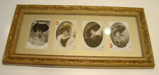 4 Antique French Ladies Fashion Glamour Photo Postcards, Stebbing, H Manuel