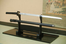 Authentic Japanese Imitation Katana; Black Ninja Katana Plain Blade