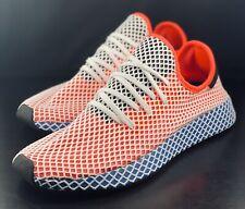 NEW Adidas Originals Deerupt Runner Red Blue White CQ2624 Size 12
