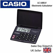 CASIO LC160LV CALCULATOR - Electronic Pocket size with Large Display & Cover