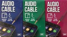 GEMS 3.5mm  Audio Jack Cable  6FT Braided Universal Design - Choose Color