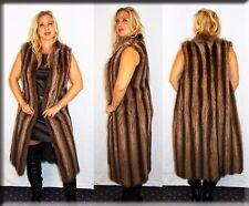 New Sleeveless Raccoon Fur Coat Vest Size Medium 6 8 M Efurs4less