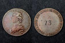 Jeton Mines et Forges. Mines de Fins et de Noyant (Charbon) 1785. Louis XVI°. Cu