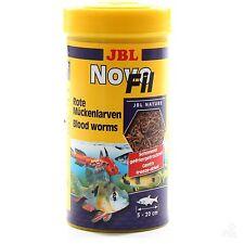 JBL NovoFil 250ml Bloodworm Freeze Dried - Tropical fish treat food novo fil