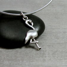 925 Sterling Silver Flamingo Charm - Tropical Bird Pendant Jewelry NEW