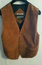 Paragraff Clothing Co Leather Vest Medium Rockabilly Biker Western Star Snaps
