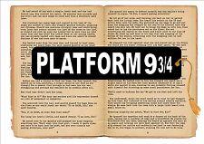 Platform 9 3/4 Bookmark Hogwarts Express Platform 9 3/4 Station Sign Bookmark