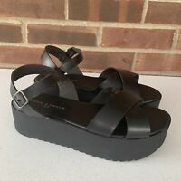 New Rock & Candy Timberly black platform slingback sandals Women's Size US 7.5 M