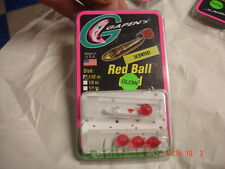 GAPEN'S RED BALL 1/32OZ  WHITE GLOW COLOR SCENTED LURE