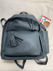 Skip Hop Diaper Bag Backpack Greenwich Multi-Function Vegan Leather - Charcoal
