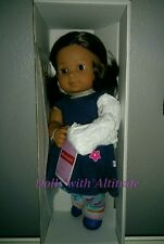 NEW American Girl Bitty Baby Twin 5G Medium Skin Brown HAIR EYES Doll Hispanic