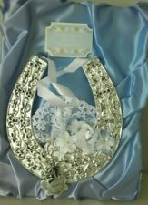 1980's Vintage Bride's Good Luck Musical Horseshoe Token - Wedding March Kitsch