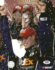 Denny Hamlin 1ST NASCAR WIN FEDEX RACING Signed 8x10 Photo PSA/DNA COA