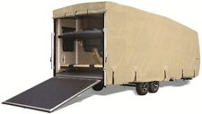 Goldline RV Trailer Toy Hauler Cover Fits 20 to 22 Foot Tan